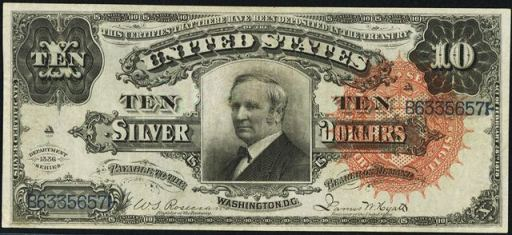 Ten Dollar Silver Certificates | Value and Price Guide | Antique Money