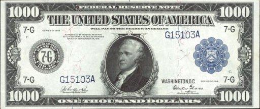 1000 Dollar Bill – Wonderful Image Gallery