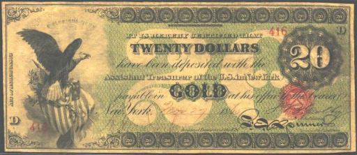 Antique Money – Value of $20 Gold Certificate