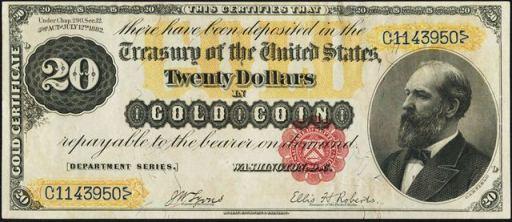 Antique Money – Gold Certificates – Values, Information, & Sales