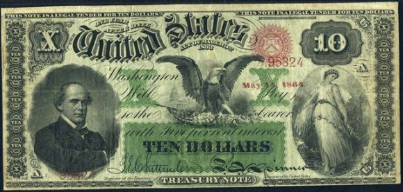 Salmon Chase Interest Bearing Notes