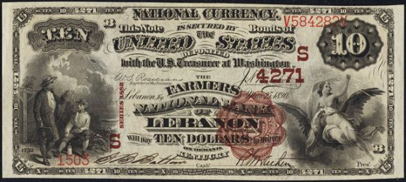 Series of 1882 $10 Brown Back (1882-1901)