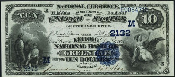 Antique Money – Blue Seal $10 1882 National Currency