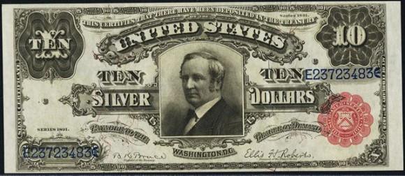 Ten Dollar Silver Certificates (1886-1908)