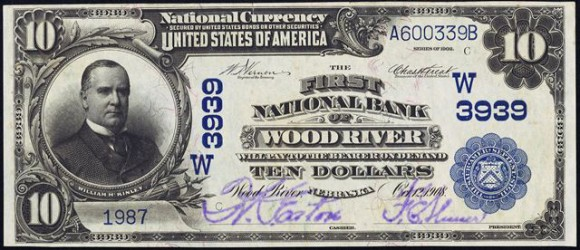 Blue Seal 1902 $10 National Currency (1902-1928)