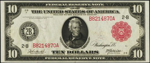 $10 Red Seal Federal Reserve Note (1913-1914)