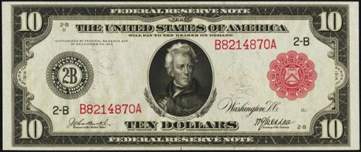rare ten dollar bills from the 1910s price guide