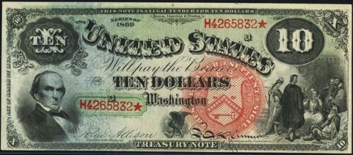 Antique Money – Ten Dollar Bills from The 1860s