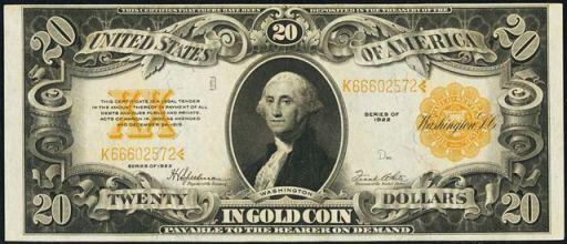 Antique Money – Twenty Dollar Bills from The 1920s