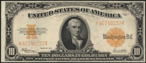 rare ten dollar bills from the 1920s price guide