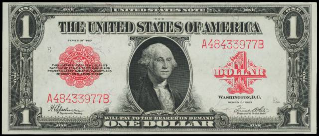 1963 US $5 Bill Red Seal Lot 20 Old Legal Tender Bank Note Paper Currency F XF