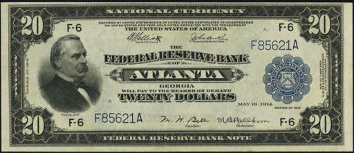 Federal Reserve Bank Note – 1915 & 1918 – Twenty Dollars