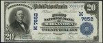 National Currency - 1902 Blue Seal - Twenty Dollars