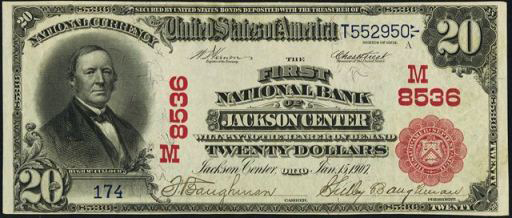 National Currency – 1902 Red Seal – Twenty Dollars