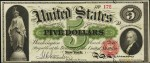 Legal Tender $5 Bill (1863 - 1864)