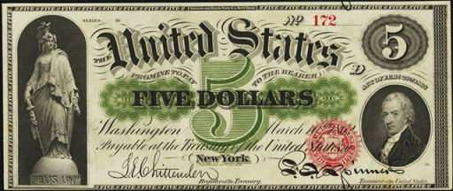 Legal Tender $5 Bill (1863 – 1864)