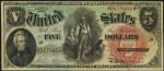 Legal Tender $5 Bill (1869 - 1880)