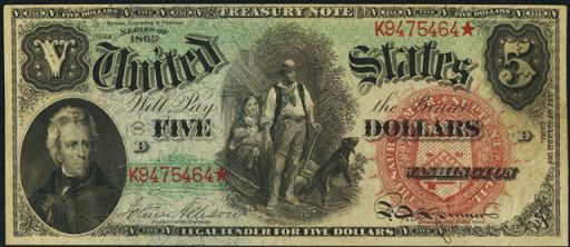Legal Tender $5 Bill (1869 – 1880)