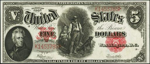 Series of 1907 $5 Legal Tender