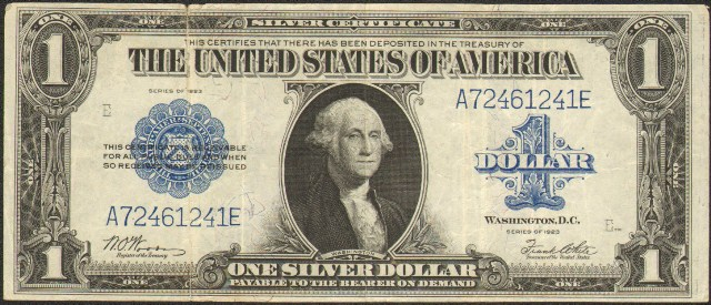 1923 $1 Bill | Information, Price Guide, and Values | Antique Money