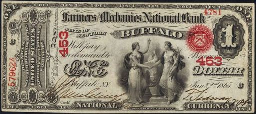 How Much Is A 1866 $1 Bill Worth?