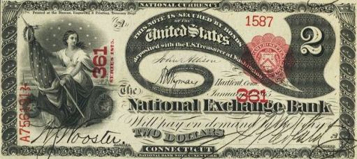 How Much Is A 1865 $2 Bill Worth?