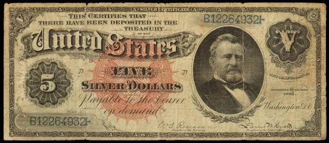Value of $5 Silver Certificates with Blue Seals | Antique Money
