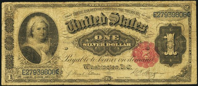 Series of 1891 $1 Silver Certificate | Information, Price Guide, and ...