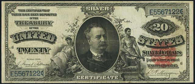 Twenty Dollar Silver Certificates | Value and Price Guide | Antique ...