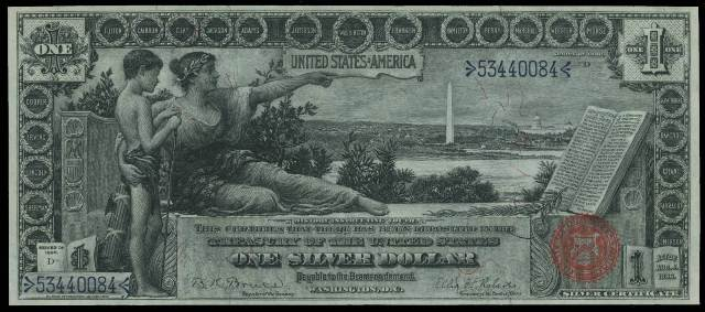 $1 Silver Certificate Blue Seal Bills | Values and Prices | Antique ...