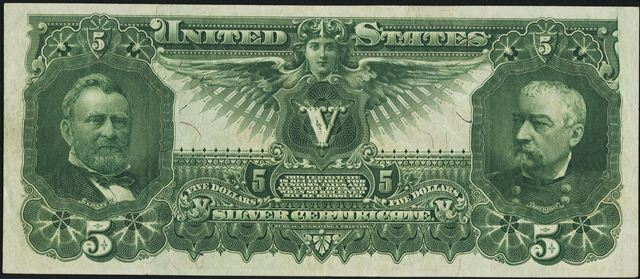 1896 $5 Silver Certificate Bill | Information, Price Guide, and ...