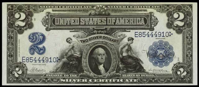 1899 $2 Silver Certificate Bill | Information, Price Guide, and ...