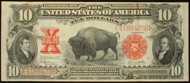1901 $10 Buffalo Bison Bill | Information, Price Guide, and