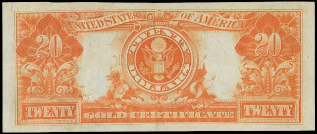 Antique Money – Value of 1922 $20 Gold Certificate Bill