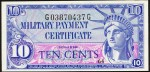 Value of Series 591 10 Cent Military Payment Certificate