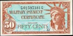Value of Series 591 50 Cent Military Payment Certificate