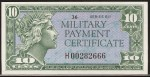Value of Series 611 10 Cent Military Payment Certificate