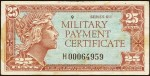 Value of Series 611 25 Cent Military Payment Certificate