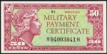 Value of Series 611 50 Cent Military Payment Certificate
