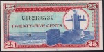 Value of Series 681 25 Cent Military Payment Certificate