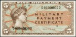 Value of Series 691 $5 Military Payment Certificate