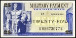 Value of Series 692 25 Cent Military Payment Certificate
