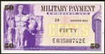 Value of Series 692 50 Cent Military Payment Certificate