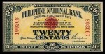 Value of 1917 Philippine National Bank Twenty Centavos Emergency Circulating Note