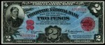 Value of 1916 Philippine National Bank Two Pesos Circulating Note