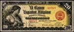 Value of 1908 Viente Pesos El Banco Espanol Filipino Viente Pesos