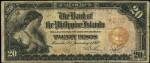 Value of 1912 Twenty Pesos Bank Of The Philippines Islands Twenty Pesos
