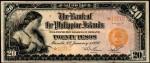 Value of 1920 Twenty Pesos Bank Of The Philippines Islands Twenty Pesos