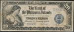 Value of 1928 Twenty Pesos Bank Of The Philippines Islands Twenty Pesos