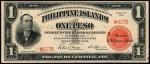 Value of 1924 Philippine Islands One Peso Treasury Certificate